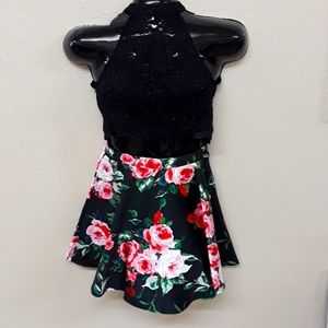 Two piece top skirt